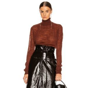 Lemaire Lightweight Knit Semi Sheer Turtleneck Top